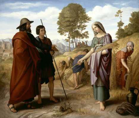 Ruth in Boaz's Field