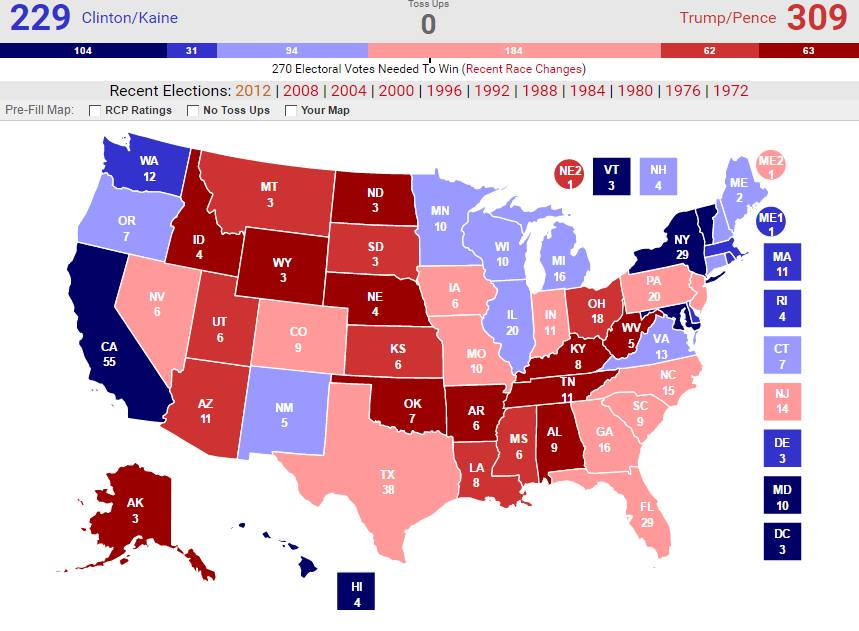 Us Electoral Map Prediction - Final us electoral map 2016