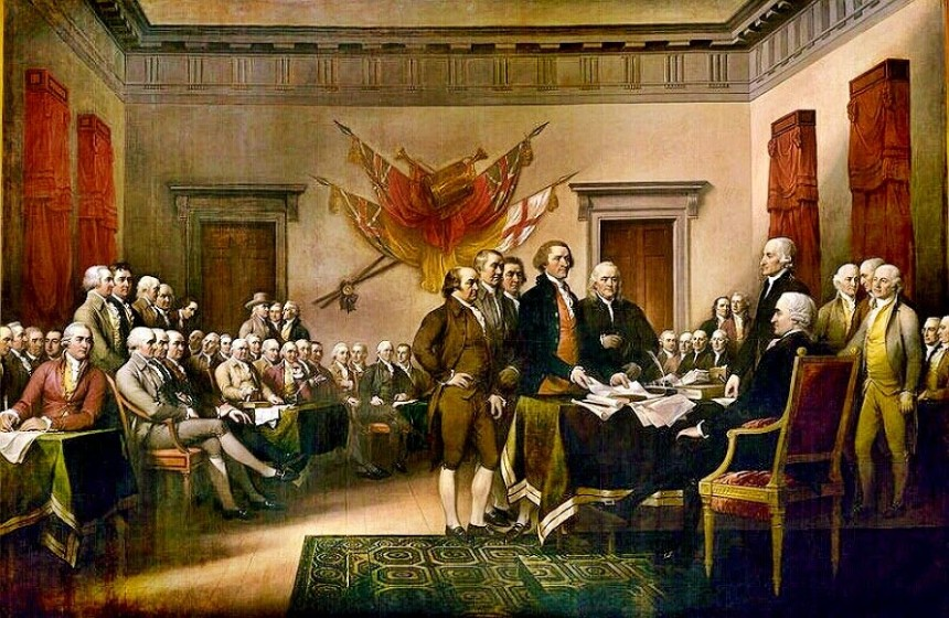 Declaration of Independence Signing Painting