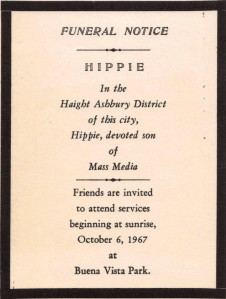 Death of the Hippie Funeral