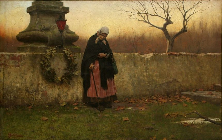 """All Souls' Day"" by Jakub Schikaneder"