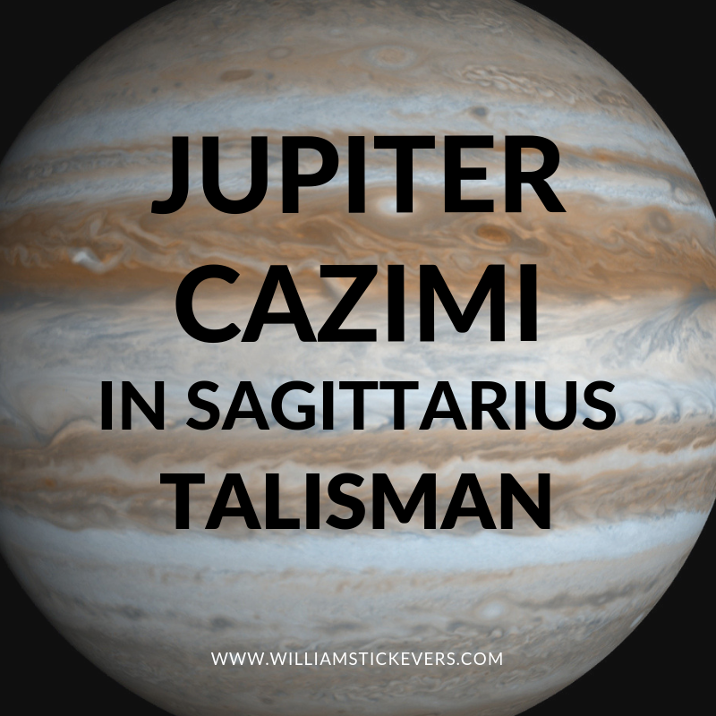 Jupiter Cazimi in Sagittarius Talisman