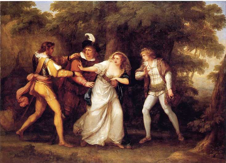 Two Gentlemen of Verona by Angelica Kauffman, 1789
