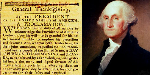 George Washington Thanksgiving Proclumation
