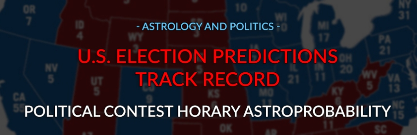 Astrology and Politics - U.S. Election Predictions Track Record for William Stickevers, 2008-present, Political Contest Horary Astroprobability