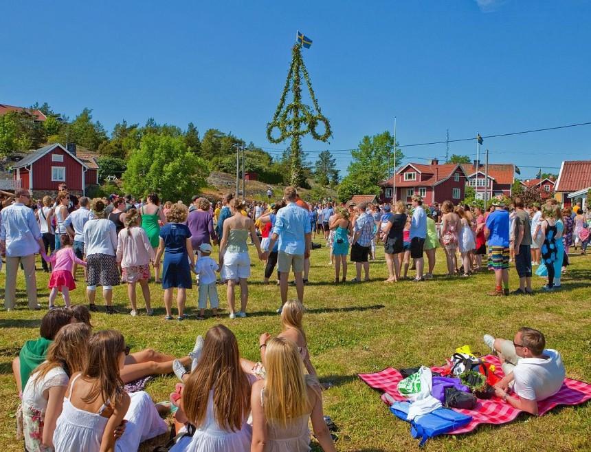 Midsummer Celebration in Stockholm Sweden