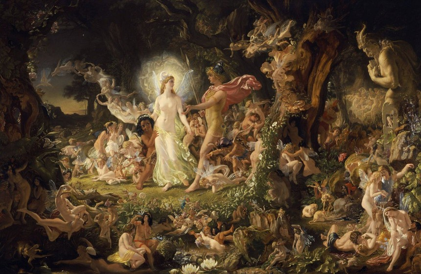 The Quarrel of Oberon and Titania by Joseph Noel Paton, 1849