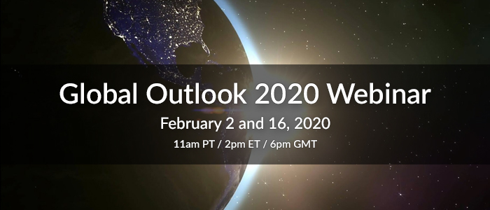 Global Outlook 2020 Forecast Webinar by William Stickevers