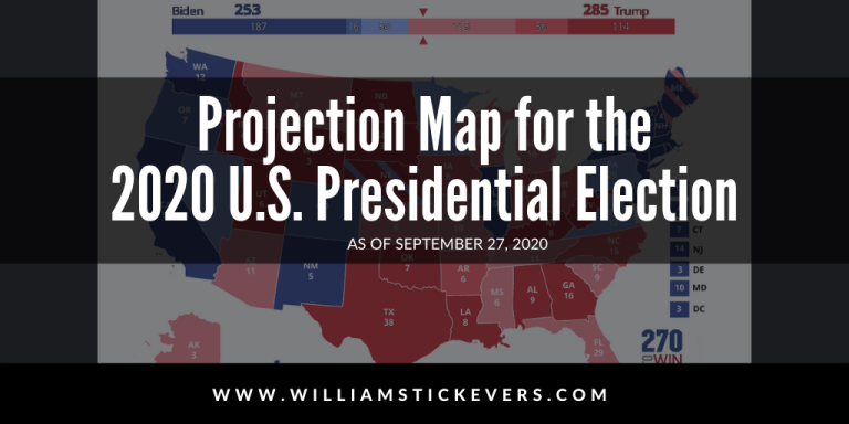 2020 Election Projections Map for the Electoral College by William Stickevers